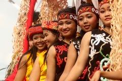 Muchacha del Dayak Foto de archivo