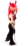 Muchacha del diablo. Traje del carnaval de los diablos. Imagen de archivo libre de regalías