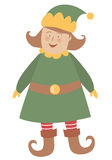 Muchacha del duende de la Navidad Imagen de archivo libre de regalías