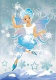 Muchacha del duende de la nieve Fotos de archivo libres de regalías
