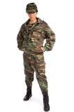 Muchacha del ejército Foto de archivo libre de regalías
