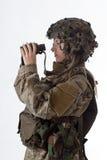 Muchacha 5 del ejército Fotografía de archivo