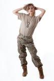 Muchacha 12 del ejército Foto de archivo
