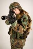 Muchacha del ejército Imagen de archivo libre de regalías