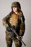 Muchacha del ejército Fotografía de archivo libre de regalías