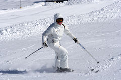Muchacha del esquí. imágenes de archivo libres de regalías