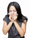 Muchacha del estornudo Imagen de archivo
