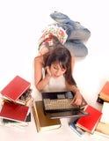 Muchacha del estudiante Imagenes de archivo