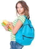 Muchacha del estudiante con la mochila Imagen de archivo libre de regalías