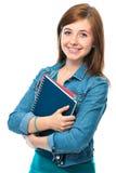 Muchacha del estudiante con los libros Imagen de archivo libre de regalías