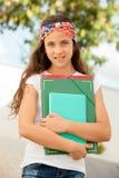 Muchacha del estudiante lista para ir a la escuela Fotografía de archivo libre de regalías