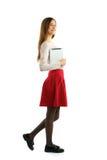 Muchacha del estudiante que usa la PC de la tableta Fotos de archivo libres de regalías