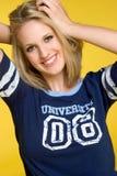 Muchacha del estudiante universitario Imagen de archivo