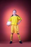 Muchacha del fútbol Imagen de archivo libre de regalías