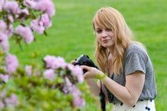 Muchacha del fotógrafo Fotografía de archivo