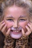 Muchacha del gato Foto de archivo libre de regalías