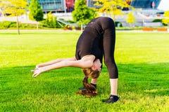 Muchacha del gimnasta Imagen de archivo libre de regalías