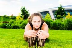 Muchacha del gimnasta Foto de archivo libre de regalías
