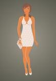 Muchacha del glamor de la manera en alineada libre illustration