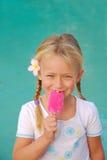 Muchacha del helado Imagenes de archivo