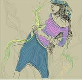 Muchacha del Hippie Foto de archivo