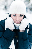 Muchacha del invierno Imágenes de archivo libres de regalías