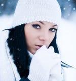 Muchacha del invierno Fotografía de archivo