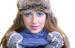 Muchacha del invierno. imagen de archivo libre de regalías