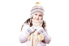 Muchacha del invierno imagenes de archivo