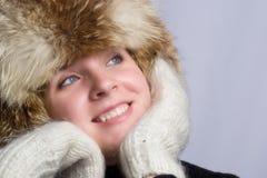 Muchacha del invierno Foto de archivo