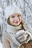 Muchacha del invierno Imagen de archivo
