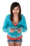 Muchacha del juego video Imagen de archivo