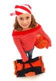 Muchacha del jugador de básquet Imagen de archivo libre de regalías