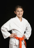 Muchacha del karate Imagenes de archivo