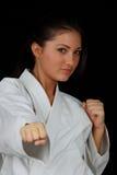 Muchacha del karate Imágenes de archivo libres de regalías