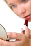 Muchacha del lápiz labial Imagen de archivo libre de regalías