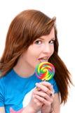 Muchacha del Lollipop Fotos de archivo