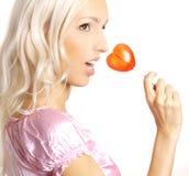 Muchacha del Lollipop Foto de archivo