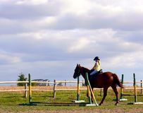 Muchacha del montar a caballo Foto de archivo