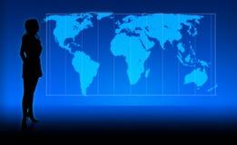 Muchacha del mundo ilustración del vector