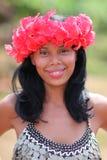 Muchacha del nativo americano, tribu de Embera fotografía de archivo
