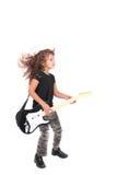 Muchacha del niño de Rockstar fotografía de archivo libre de regalías