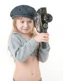 Muchacha del niño - cineasta Foto de archivo libre de regalías
