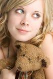 Muchacha del oso del peluche Imagen de archivo libre de regalías