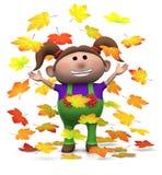 Muchacha del otoño Imagenes de archivo
