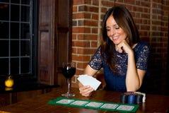 Muchacha del póker Imagen de archivo