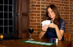 Muchacha del póker Fotografía de archivo