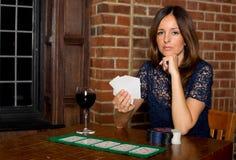 Muchacha del póker Fotografía de archivo libre de regalías