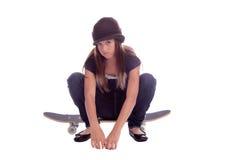 Muchacha del patinador fotos de archivo