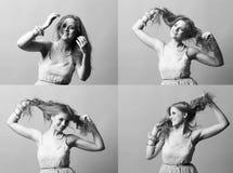 Muchacha del peinado Imagen de archivo